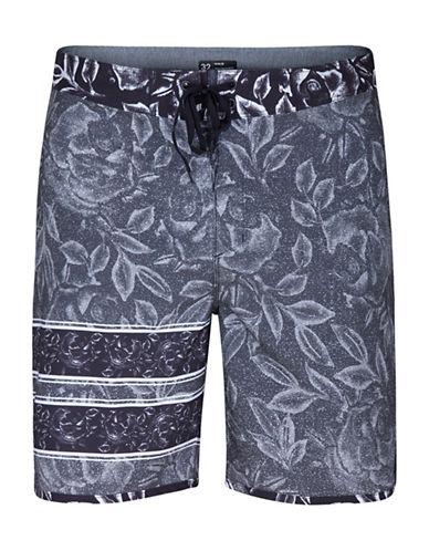 Hurley Floral-Printed Boardshorts-BLACK-28