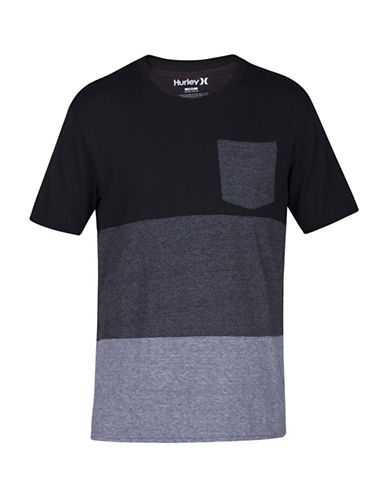 Hurley Colourblocked Tri-Blend T-Shirt-BLACK-XX-Large 89087185_BLACK_XX-Large