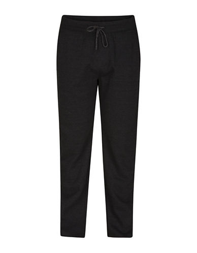 Hurley Bayside Fleece Sweatpants-BLACK-Small