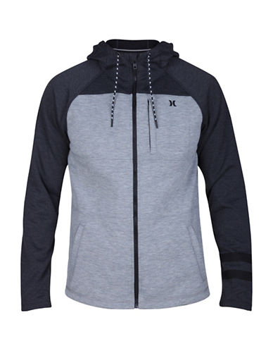 Hurley Therma Protect Hooded Jacket-GREY-Medium