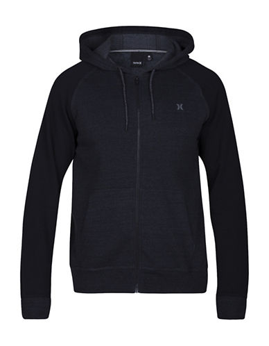 Hurley Bayside Fleece Hooded Jacket-BLACK-X-Large