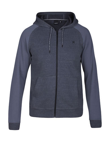 Hurley Bayside Fleece Hooded Jacket-GREY-Small