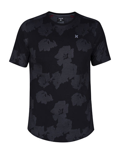 Hurley Drifit Aloha Knit Tee-BLACK-X-Large