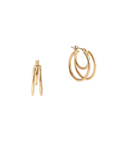 Kenneth Cole New York Triple Hoops Earrings-GOLD-One Size