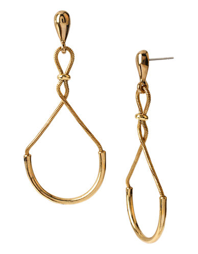 Diane Von Furstenberg Love is Life Spokes Metal Drop Earring-GOLD-One Size