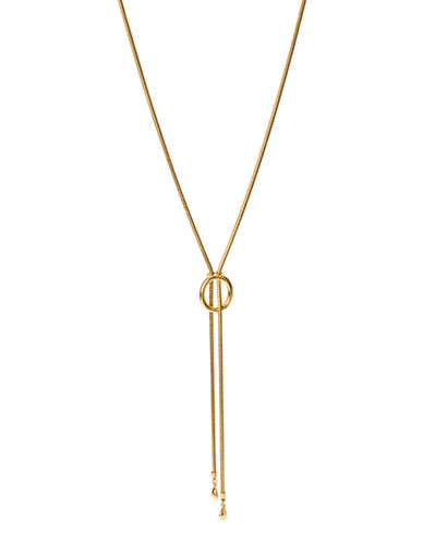 Diane Von Furstenberg Grand Prix Metal Necklace-GOLD-One Size
