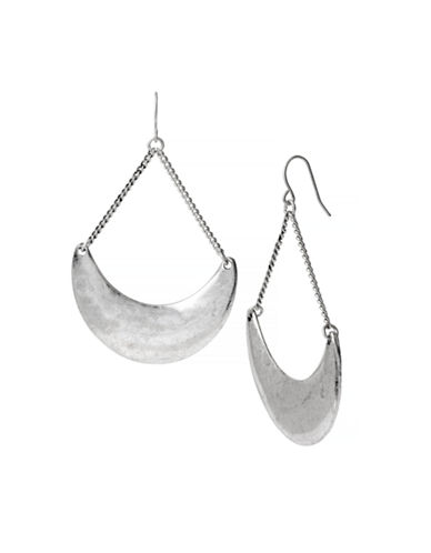 Kenneth Cole New York Pebble Beach Large Sculptural Drop Earring-SILVER-One Size