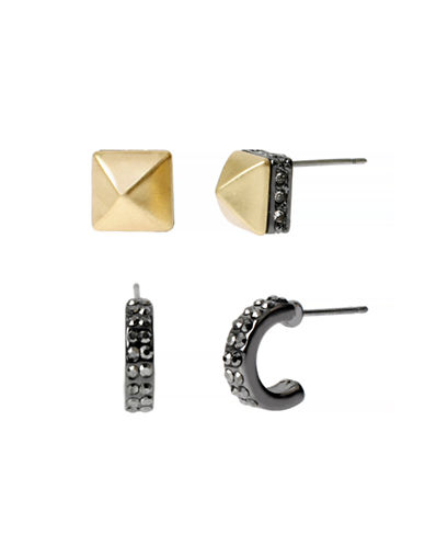 Kenneth Cole New York Natural Wonder Geometric Duo Stud Earring Set-ASSORTED-One Size