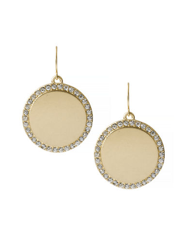 Kenneth Cole New York Natural Wonder Circle Drop Earring-CRYSTAL-One Size