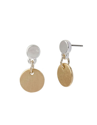Kenneth Cole New York Two-Tone Circle Drop Earrings-ASSORTED-One Size