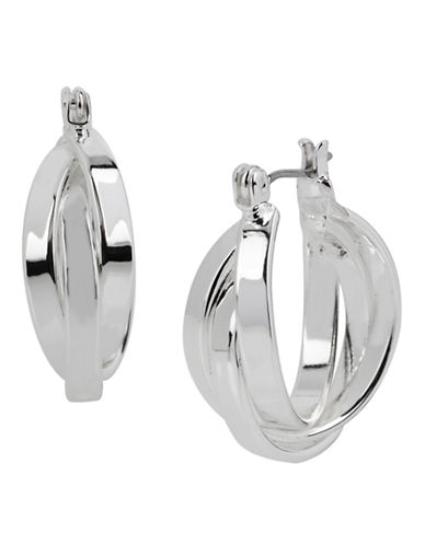 Kenneth Cole New York Multi Row Hoop Earring-SILVER-One Size