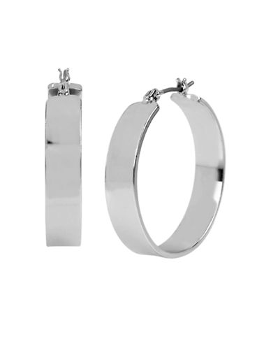 Kenneth Cole New York Wide Hoop Earring-SILVER-One Size