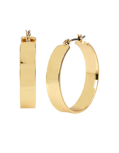 Kenneth Cole New York Wide Hoop Earring-GOLD-One Size