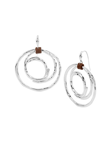 Robert Lee Morris Soho Boho City Hammered Circle Drop Earring-SILVER-One Size