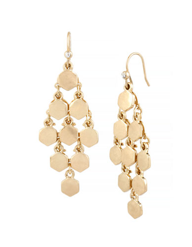 Kenneth Cole New York Honeycomb Geometric Chandelier Earring-GOLD-One Size