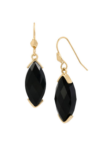 Kenneth Cole New York Jewels Faceted Stone Drop Earring-JET-One Size