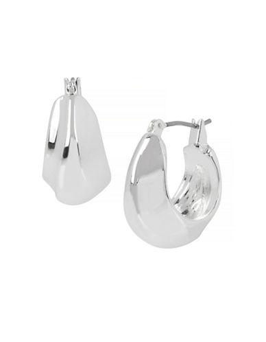 Robert Lee Morris Soho Sculptural Oval Wide Hoop Earrings-SILVER-One Size