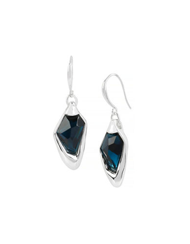 Robert Lee Morris Soho Blue Faceted Stone Drop Earrings-BLUE-One Size