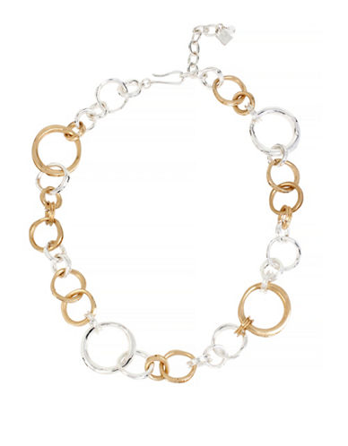 Robert Lee Morris Soho Two-Tone Ring Link Necklace-TWO TONE-One Size
