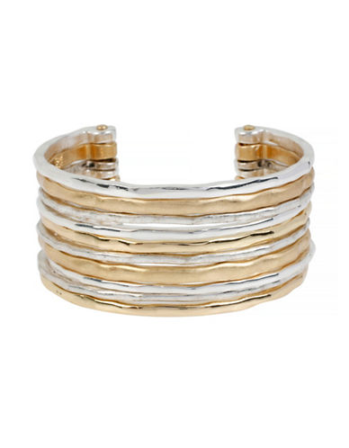 Robert Lee Morris Soho Two-Tone Multi-Row Cuff Bracelet-TWO TONE-One Size