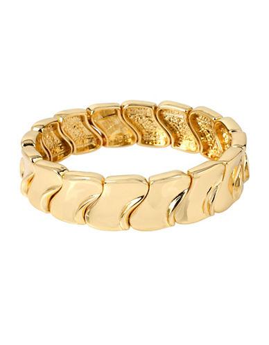 Robert Lee Morris Soho Gold Sculptural Narrow Stretch Bracelet-GOLD-One Size
