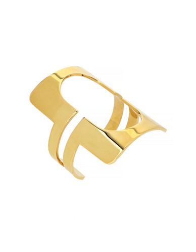 Diane Von Furstenberg Chain Link Cuff Bracelet-GOLD-One Size
