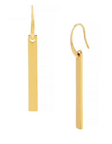 Diane Von Furstenberg Linear Bar Drop Earrings-GOLD-One Size