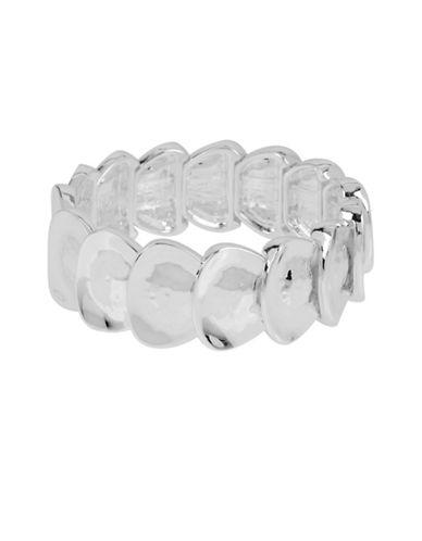 Robert Lee Morris Soho Hammered Oval Stretch Bracelet-SILVER-One Size