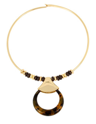 Robert Lee Morris Soho Tortoise Ring Pendent Necklace-TORTOISE-One Size