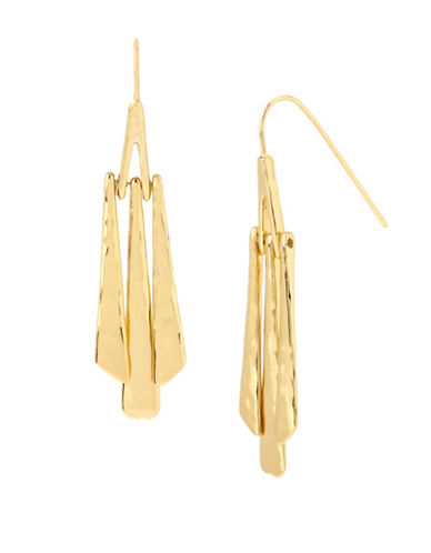 Robert Lee Morris Soho Hammered Stick Linear Earrings-GOLD-One Size