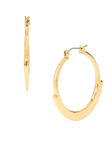 Robert Lee Morris Soho Geometric Edge Hoop Earrings-GOLD-One Size