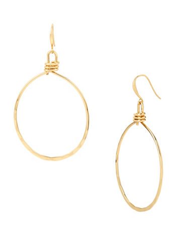 Robert Lee Morris Soho Hammered Gypsy Hoop Earrings-GOLD-One Size