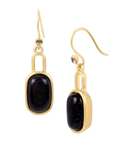 Kenneth Cole New York Semi-Precious Sandstone Goldtone Drop Earrings-BLUE-One Size