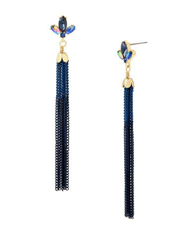 Betsey Johnson Multi Chain Tassel Earrings-ASSORTED-One Size