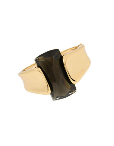 Robert Lee Morris Soho Faceted Cuff Bracelet-BLACK-One Size