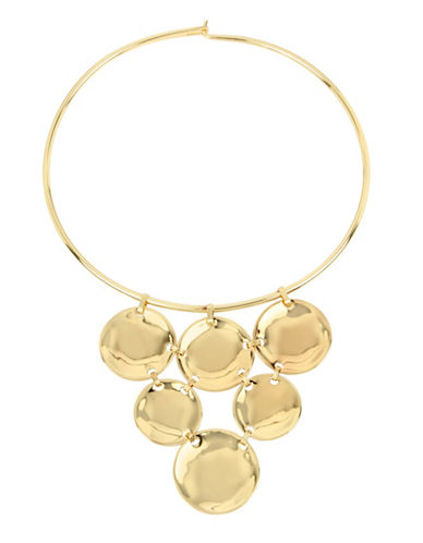 Robert Lee Morris Soho Pompeii 14K Gold Disc Frontal Wire Collar Necklace-GOLD-One Size
