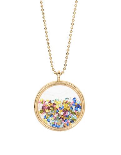Betsey Johnson Shaky Crystal Pendant Necklace-MULTI-One Size