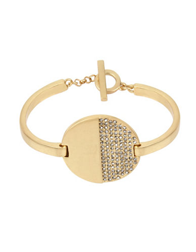 Kenneth Cole New York Disc and Toggle Bracelet-GOLD-One Size