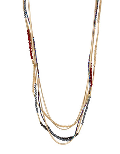 Kenneth Cole New York Mixed Bead Multi-Row Necklace-MULTI-One Size