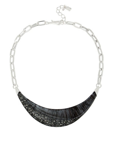 Robert Lee Morris Soho Into The Mist Sculptural Necklace-GREY-One Size