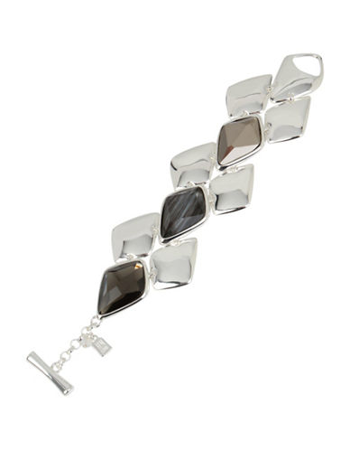Robert Lee Morris Soho Into The Mist Geometric Toggle Bracelet-SILVER-One Size