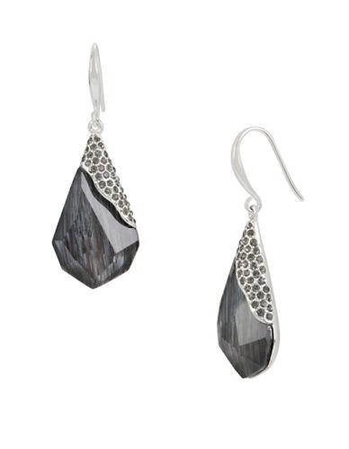 Robert Lee Morris Soho Pave Faceted Stone Drop Earrings-BLACK-One Size