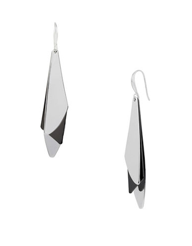 Robert Lee Morris Soho Into The Mist Two-Tone Shaky Geometric Drop Earrings-ASSORTED-One Size