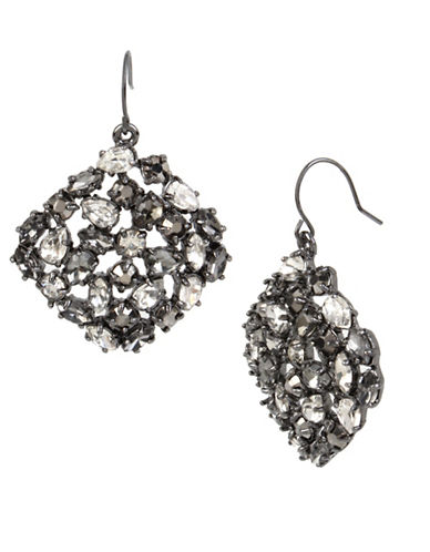 Kenneth Cole New York Crystal Drop Earrings-GREY-One Size