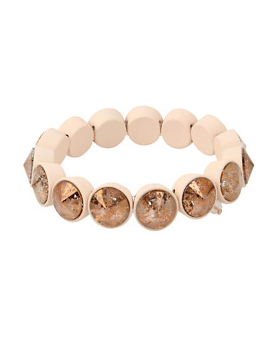 Betsey Johnson Rivoli Stretch Bracelet-PINK-One Size