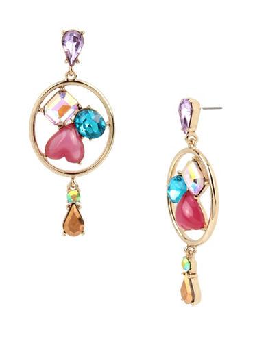 Betsey Johnson Statement Multi-Stone Earrings-MULTI-One Size