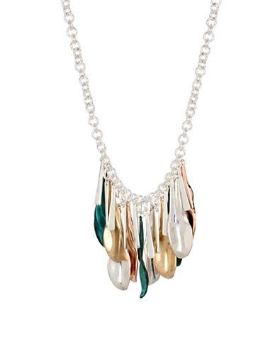 Robert Lee Morris Soho Femme Petal Chain Necklace-MULTI-One Size