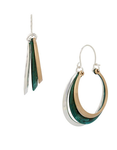 Robert Lee Morris Soho Femme Petal Multi-Row Hoop Earrings-MULTI-One Size