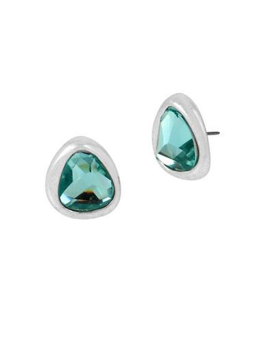 Robert Lee Morris Soho Sculptural Stone Stud Earrings-SILVER-One Size