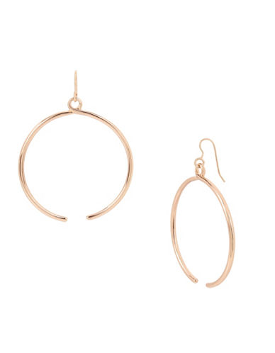 Kenneth Cole New York Rose Goldtone Twist Open Drop Hoop Earrings-ROSE GOLD-One Size